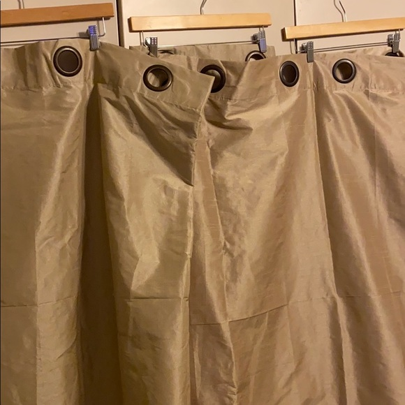 Cost Plus World Market Other - Set of 3 drapes / curtains tan/gold color NEWISH